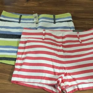 Pair of striped shorts